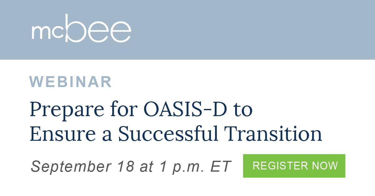 McBee Presents Webinar for Home Health\'s Successful Transition to ...