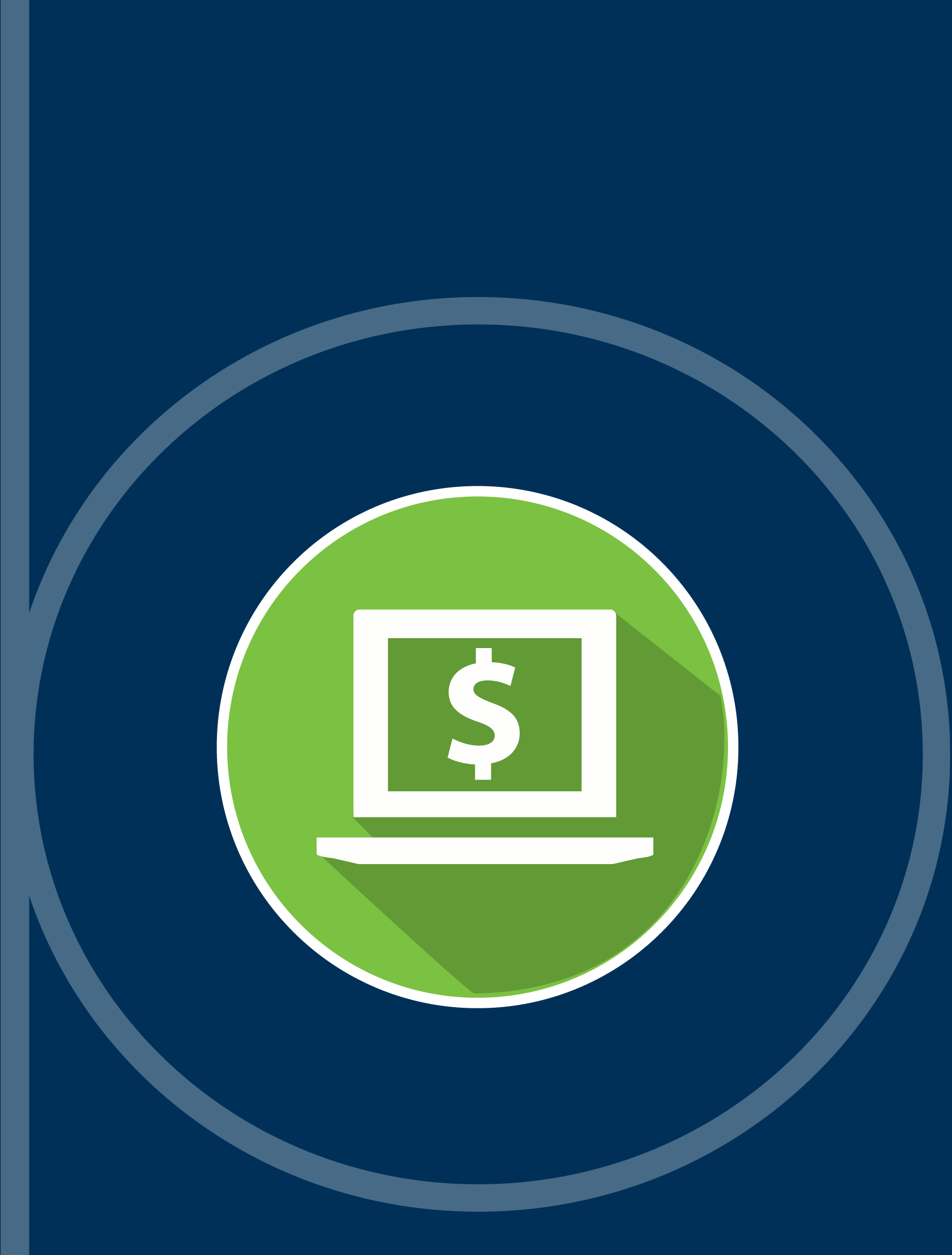 Graphic Computer Screen with Money Sign