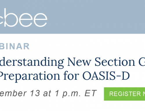 McBee to Present Part Two of the Webinar Series Preparing for OASIS-D